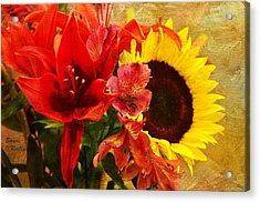 Sunflower Bouquet Acrylic Print by Sandi OReilly
