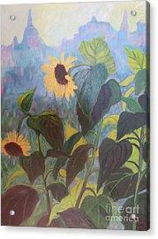 Sunflower City 1 Acrylic Print by Gretchen Allen
