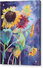 Acrylic Print featuring the painting Sunflower Color by Nancy Jolley