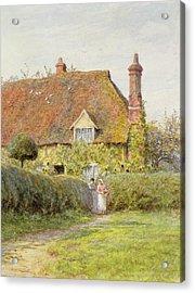 Sunflower Cottage Acrylic Print by Helen Allingham