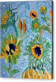 Sunflower Cycle Of Life 1 Acrylic Print