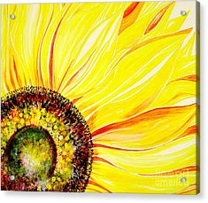 Acrylic Print featuring the painting Sunflower Day by Julie  Hoyle