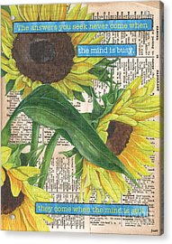 Sunflower Dictionary 1 Acrylic Print