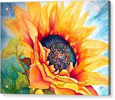 Sunflower Joy Acrylic Print by Janine Riley
