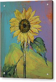 Sunflower Acrylic Print by Michael Creese