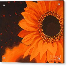 Acrylic Print featuring the painting Sunflower Mystique by Janet McDonald