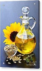 Sunflower Oil Bottle Acrylic Print