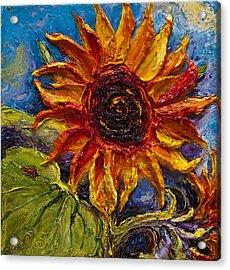 Sunflower Acrylic Print by Paris Wyatt Llanso