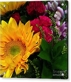 Acrylic Print featuring the photograph Sunflower Reflections by Meghan at FireBonnet Art