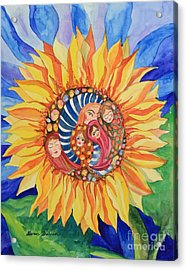 Acrylic Print featuring the painting Sunflower Seeds Of Hope by Shirin Shahram Badie