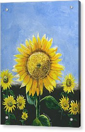 Acrylic Print featuring the painting Sunflower Series One by Thomas J Herring
