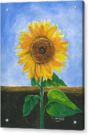 Acrylic Print featuring the painting Sunflower Series Two by Thomas J Herring