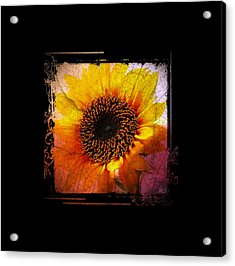 Sunflower Sunset - Art Nouveau  Acrylic Print by Absinthe Art By Michelle LeAnn Scott