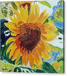 Sunflower Tile  Acrylic Print