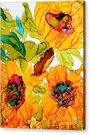 Sunflower Trio Acrylic Print