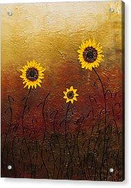 Sunflowers 2 Acrylic Print by Carmen Guedez