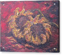 Sunflowers 2 - Ode To Van Gogh Acrylic Print