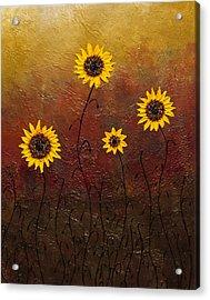 Sunflowers 3 Acrylic Print by Carmen Guedez