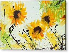 Sunflowers - Abstract Painting Acrylic Print