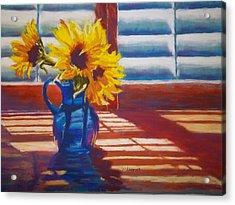 Sunflowers Backlight Acrylic Print