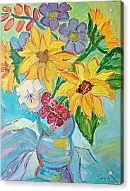 Sunflowers Acrylic Print by Brenda Ruark