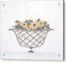 Sunflowers Acrylic Print by Christine Corretti