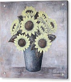 Sunflowers Acrylic Print by Home Art