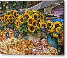 Sunflowers In A French Market Acrylic Print