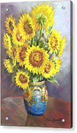 Sunflowers In A Sunflower Vase Acrylic Print