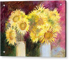 Sunflowers In Jars Acrylic Print
