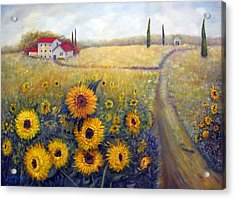 Sunflowers Acrylic Print by Loretta Luglio