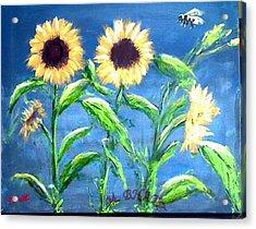 Sunflowers Acrylic Print by M Bhatt