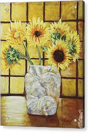 Sunflowers Acrylic Print by Michael Crapser