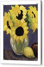 Sunflowers Acrylic Print by Nancy Edwards