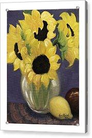 Sunflowers Acrylic Print by Nancy Edwards