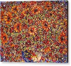 Sunflowers  Acrylic Print by Natalie Holland
