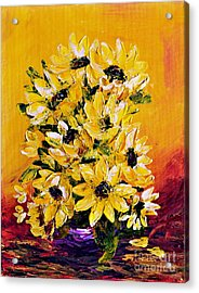 Sunflowers  No.3 Acrylic Print by Teresa Wegrzyn