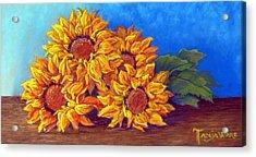 Sunflowers Of Fall Acrylic Print