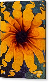Acrylic Print featuring the painting Sunflowers On Psychadelics by Omaste Witkowski