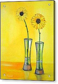 Sunflowers Acrylic Print by Rafath Khan