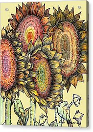 Sunflowers Revisited Acrylic Print