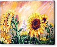 Sunflowers Acrylic Print by Shirwan Ahmed