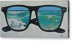 Sunglass Wave Acrylic Print by Brenda Gordon