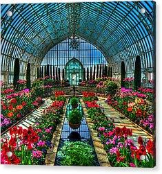 Sunken Garden Marjorie Mc Neely Conservatory Acrylic Print