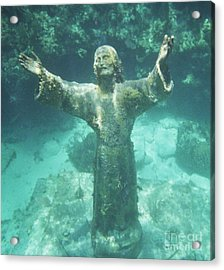 Acrylic Print featuring the photograph Sunken Savior by Robert ONeil