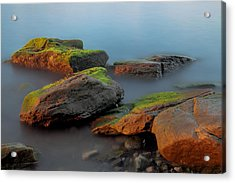 Sunkissed Rocks Acrylic Print