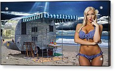 Sunkissed Acrylic Print by Steven Vickers