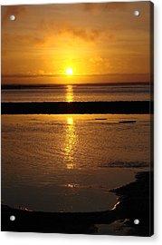 Sunkist Sunset Acrylic Print by Athena Mckinzie