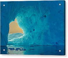Sunlit Window - Greenland Iceberg Photograph Acrylic Print