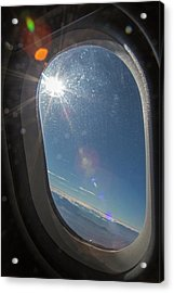 Sunlight Flare In Aircraft Window Acrylic Print